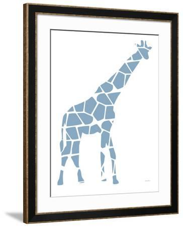 Blue Reticulated-Avalisa-Framed Art Print