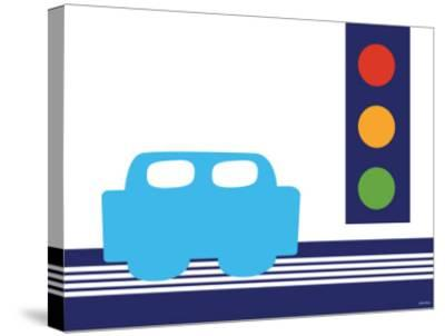 Blue Stop Light-Avalisa-Stretched Canvas Print