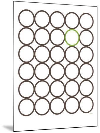 Brown Green Circles-Avalisa-Mounted Art Print