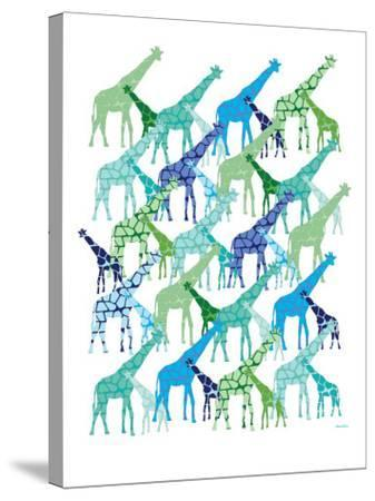 Cool Giraffe Pattern-Avalisa-Stretched Canvas Print