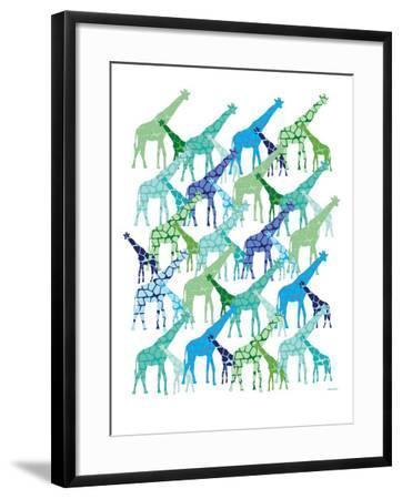 Cool Giraffe Pattern-Avalisa-Framed Art Print