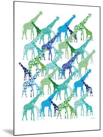 Cool Giraffe Pattern-Avalisa-Mounted Art Print
