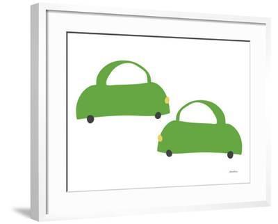 Green Cabs-Avalisa-Framed Art Print