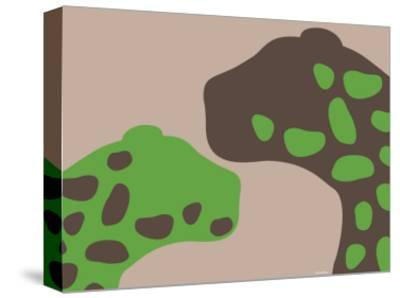 Green Jaguars-Avalisa-Stretched Canvas Print