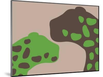 Green Jaguars-Avalisa-Mounted Art Print