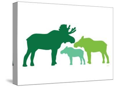 Green Moose-Avalisa-Stretched Canvas Print