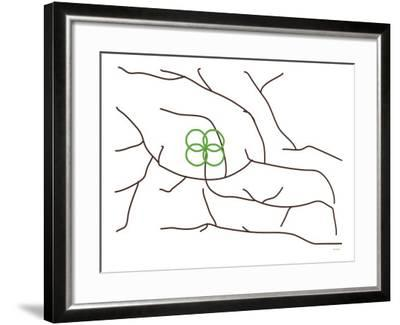 Green Poppy Tree-Avalisa-Framed Art Print