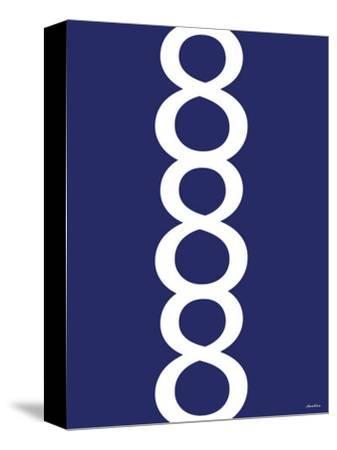 Navy Figure 8 Design-Avalisa-Stretched Canvas Print