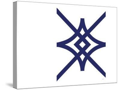 Navy Diamond-Avalisa-Stretched Canvas Print