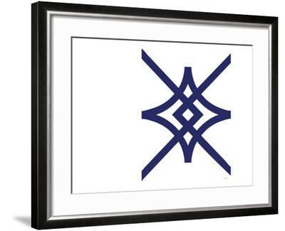 Navy Diamond-Avalisa-Framed Art Print