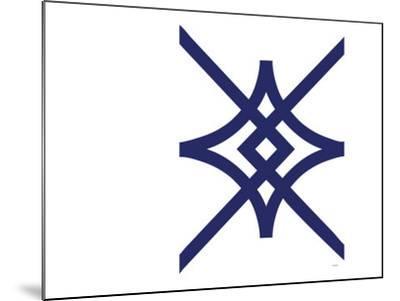 Navy Diamond-Avalisa-Mounted Art Print
