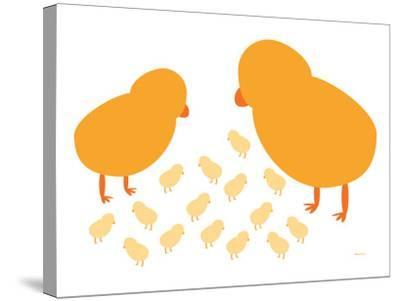 Orange Chicks-Avalisa-Stretched Canvas Print