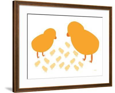 Orange Chicks-Avalisa-Framed Art Print