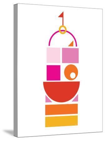 Orange Pink Large Castle-Avalisa-Stretched Canvas Print