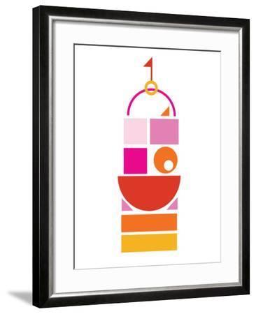 Orange Pink Large Castle-Avalisa-Framed Art Print