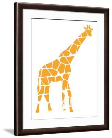 Orange Reticulated-Avalisa-Framed Premium Giclee Print