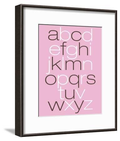 Pink Alpha-Avalisa-Framed Art Print