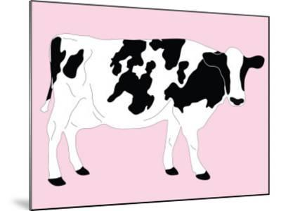 Pink Dairy Cow-Avalisa-Mounted Art Print