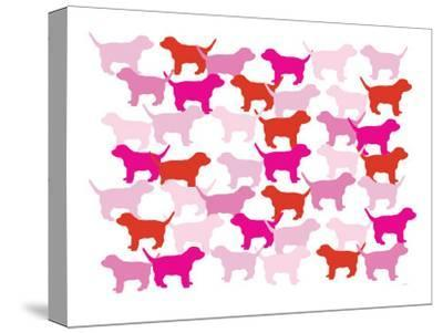 Pink Puppies-Avalisa-Stretched Canvas Print