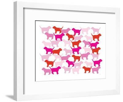 Pink Puppies-Avalisa-Framed Art Print