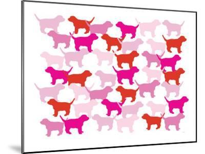 Pink Puppies-Avalisa-Mounted Art Print