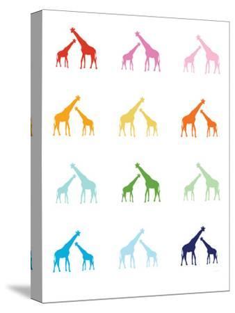Rainbow Giraffes-Avalisa-Stretched Canvas Print