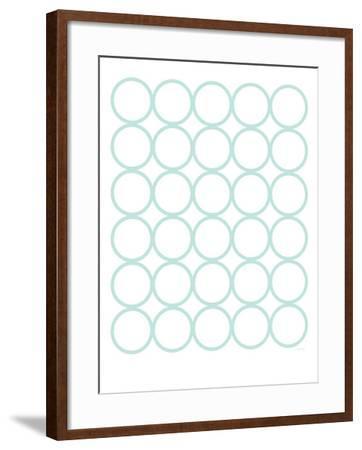 Seagreen Circles-Avalisa-Framed Art Print