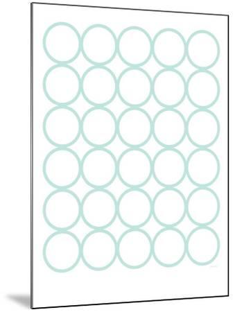 Seagreen Circles-Avalisa-Mounted Art Print