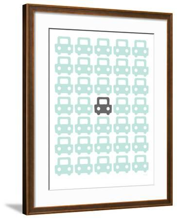 Seagreen Parking Lot-Avalisa-Framed Art Print