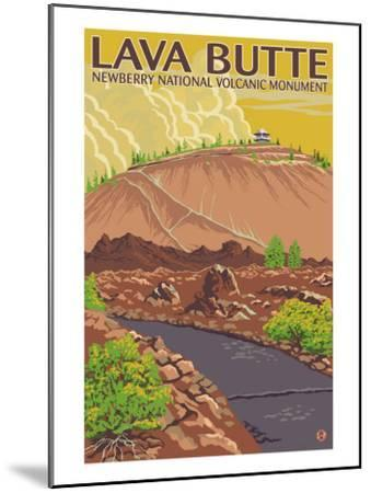 Newberry National Volcanic Monument, Lava Butte-Lantern Press-Mounted Art Print