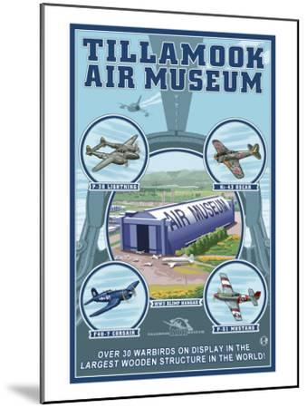 Tillamook, Oregon, Tillamook Air Museum Collage-Lantern Press-Mounted Art Print