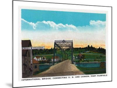 Aroostook County, Maine, Fort Fairfield View of Internat'l Bridge to Canada-Lantern Press-Mounted Art Print