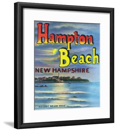 Hampton Beach, New Hampshire, View of Historic Boars Head-Lantern Press-Framed Art Print