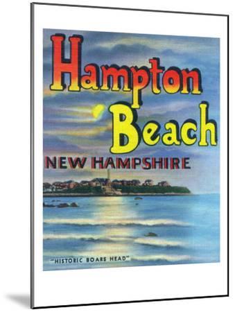 Hampton Beach, New Hampshire, View of Historic Boars Head-Lantern Press-Mounted Art Print