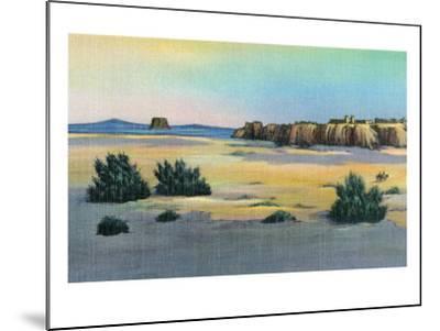 New Mexico, View of Acoma and the Enchanted Mesa near Laguna-Lantern Press-Mounted Art Print