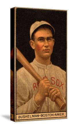Boston, MA, Boston Red Sox, J. F. Bushelman, Baseball Card-Lantern Press-Stretched Canvas Print
