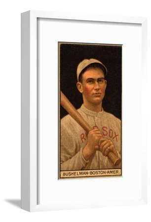 Boston, MA, Boston Red Sox, J. F. Bushelman, Baseball Card-Lantern Press-Framed Art Print