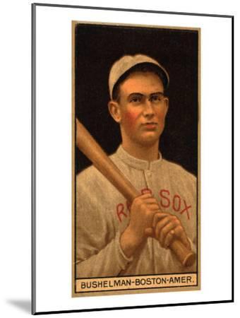 Boston, MA, Boston Red Sox, J. F. Bushelman, Baseball Card-Lantern Press-Mounted Art Print