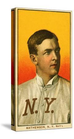 New York City Ny New York Giants Christy Mathewson Baseball Card Art Print By Lantern Press Artcom