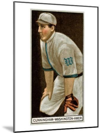 Washington D.C., Washington Nationals, William Cunningham, Baseball Card-Lantern Press-Mounted Art Print