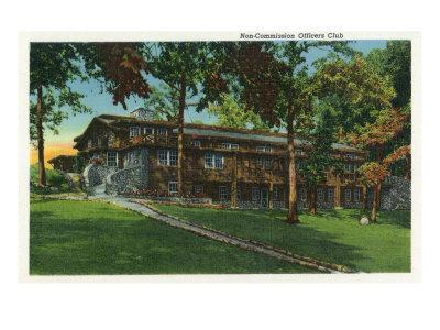 Fort Knox, Kentucky, Exterior View of the Non-Commission Officers Club-Lantern Press-Framed Art Print