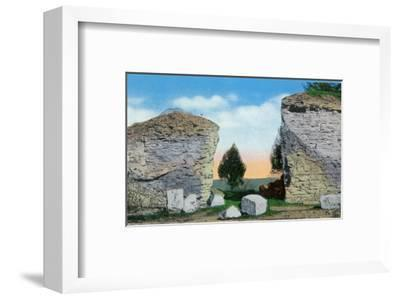 Galena, Illinois, Scenic View of the Pinnacle of Horse Shoe Mound-Lantern Press-Framed Art Print