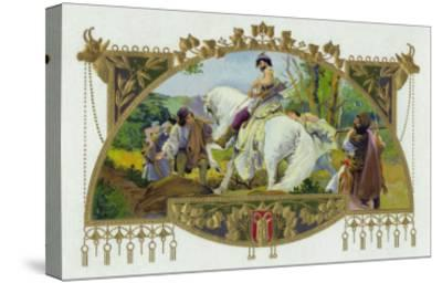 Oldrich Brand Cigar Inner Box Label, Oldrich, Duke of Bohemia-Lantern Press-Stretched Canvas Print