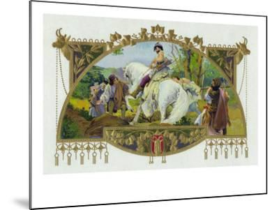 Oldrich Brand Cigar Inner Box Label, Oldrich, Duke of Bohemia-Lantern Press-Mounted Art Print