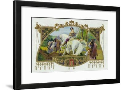 Oldrich Brand Cigar Inner Box Label, Oldrich, Duke of Bohemia-Lantern Press-Framed Art Print