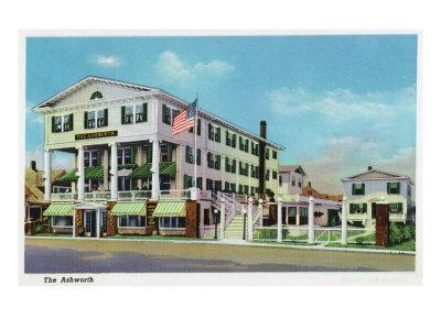 Hampton Beach, New Hampshire, Exterior View of the Ashworth-Lantern Press-Framed Art Print