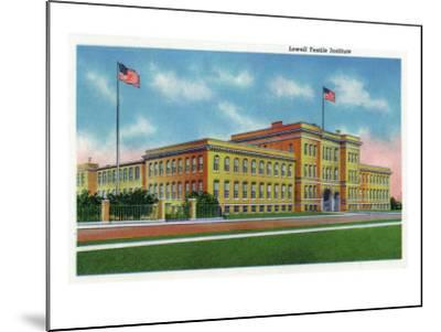 Lowell, Massachusetts, Exterior View of the Lowell Textile Institute-Lantern Press-Mounted Art Print