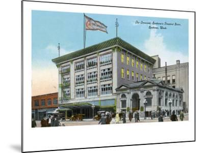 Spokane, Washington, Exterior View of the Crescent Store Building-Lantern Press-Mounted Art Print