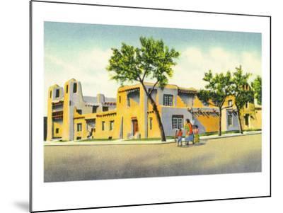 Santa Fe, New Mexico, Exterior View of the Art Museum-Lantern Press-Mounted Art Print