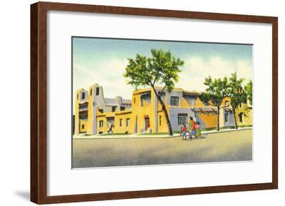 Santa Fe, New Mexico, Exterior View of the Art Museum-Lantern Press-Framed Art Print